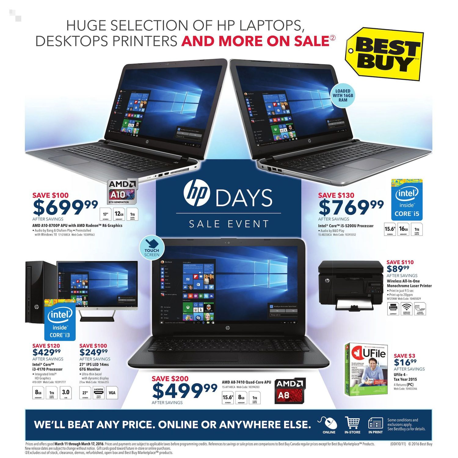 Best buy weekly flyer weekly hp days sale event mar 11 17 best buy weekly flyer weekly hp days sale event mar 11 17 redflagdeals fandeluxe Images