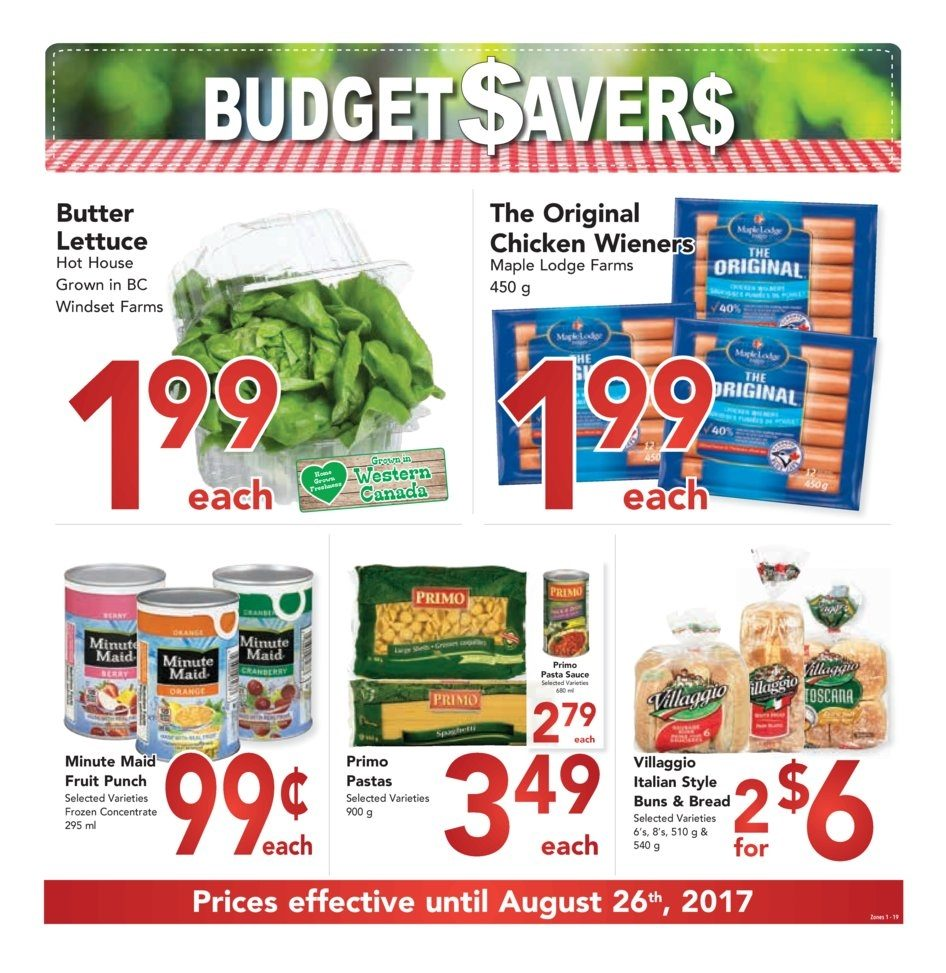 Buy Low Foods Weekly Flyer Budget Savers Aug 6 26 Minute Maid Homestyle Orange 1l