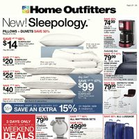 Home Outfitters - Weekly - New! Sleepology Flyer