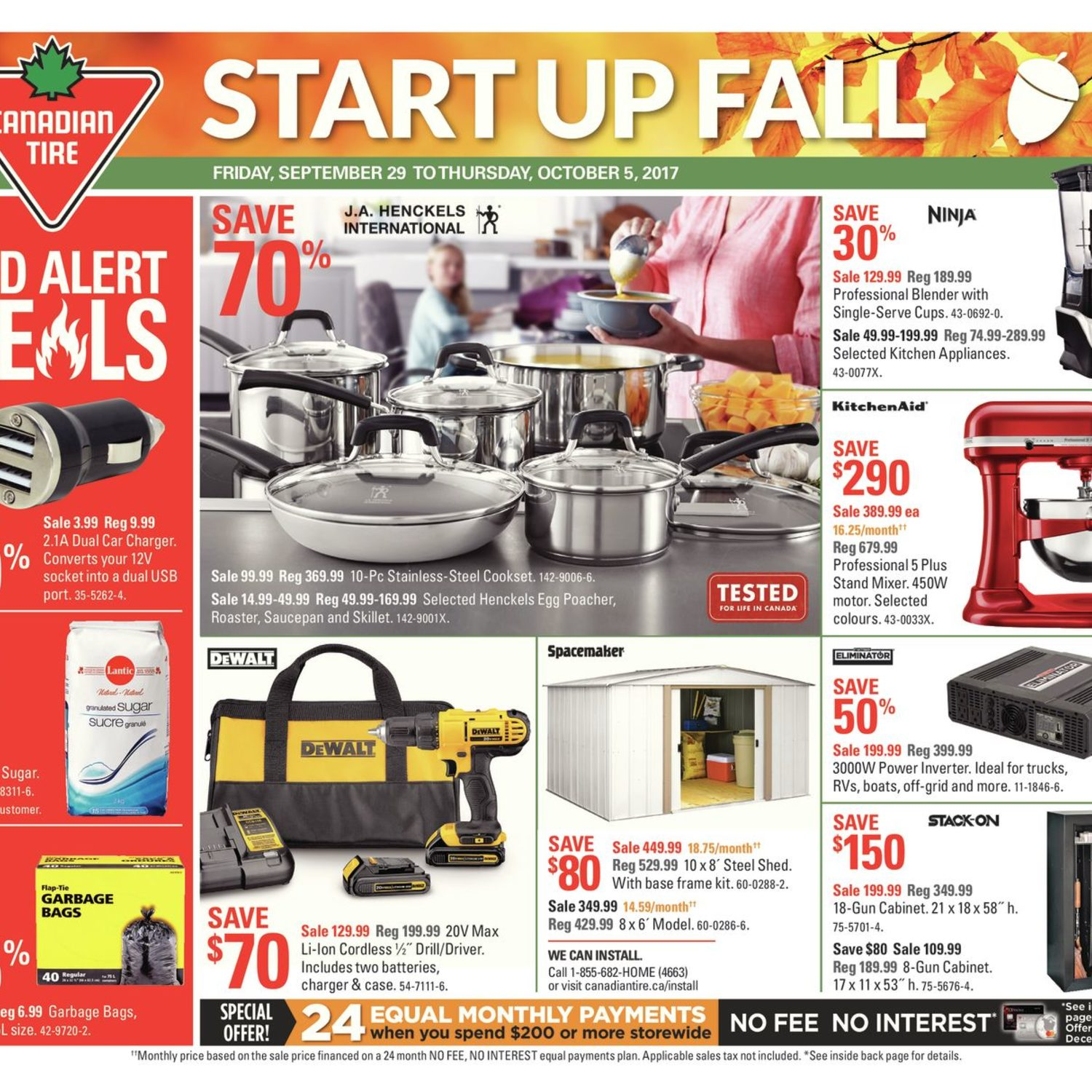 Canadian Tire Weekly Flyer Weekly Start Up Fall Sep 29 – Oct 5