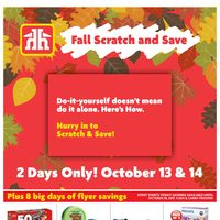 Home Hardware - The Fall Scratch And Save Event Flyer