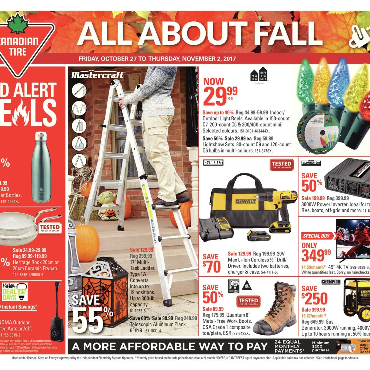 Canadian Tire Weekly Flyer Weekly All About Fall Oct