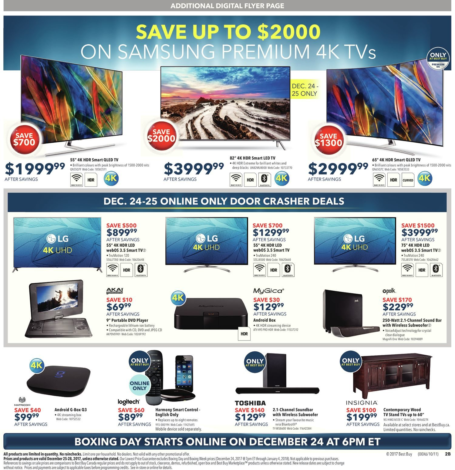Best Buy Weekly Flyer Boxing Day Sale Dec 25 25