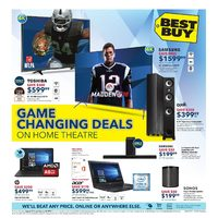 Best Buy - Weekly - Game Changing Deals on Home Theatre Flyer