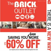 The Brick - Outlet - Friends & Family Event Flyer