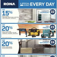 Rona - Weekly - A Special Event Every Day Flyer