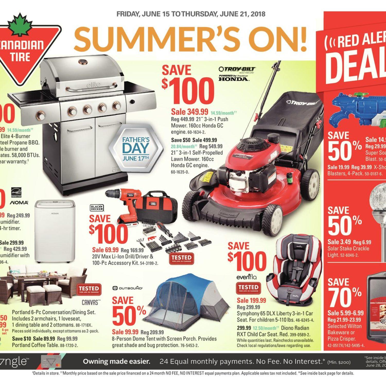 Canadian Tire Weekly Flyer Weekly Summer S On Jun 15 21 Redflagdeals Com