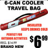 6-Can Cooler Travel Bag
