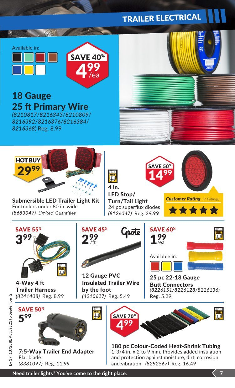 Princess Auto Weekly Flyer Splitacular Deals Aug 21 Sep 2 Keeper Trailer Wiring Harness