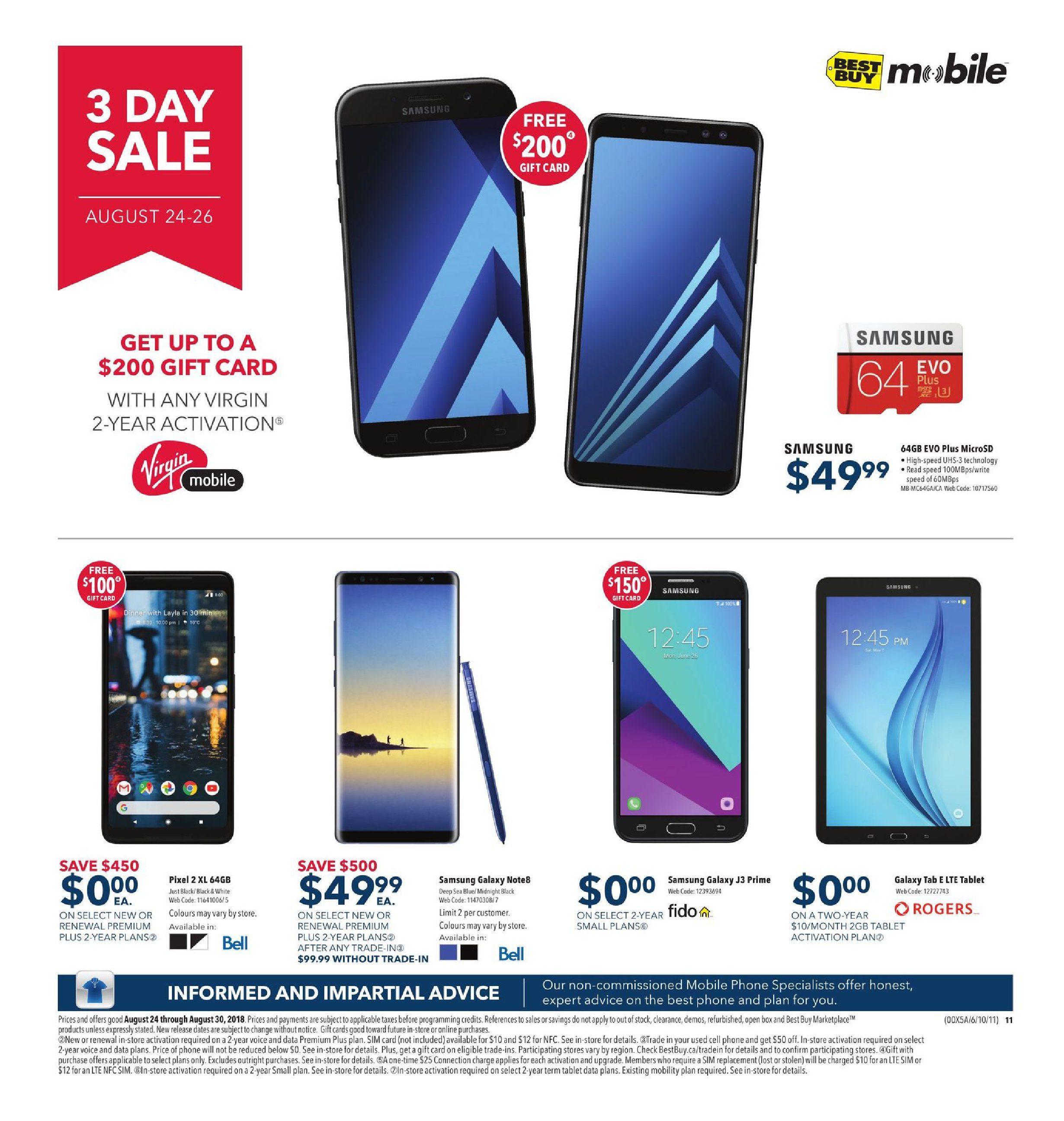 Best Buy Weekly Flyer - Weekly - Back To School Deals - Aug 24 – 30