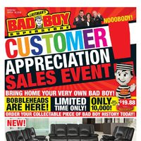 Bad Boy Furniture - Customer Appreciation Sales Event Flyer