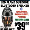 LED Flame Outdoor Bluetooth Speaker