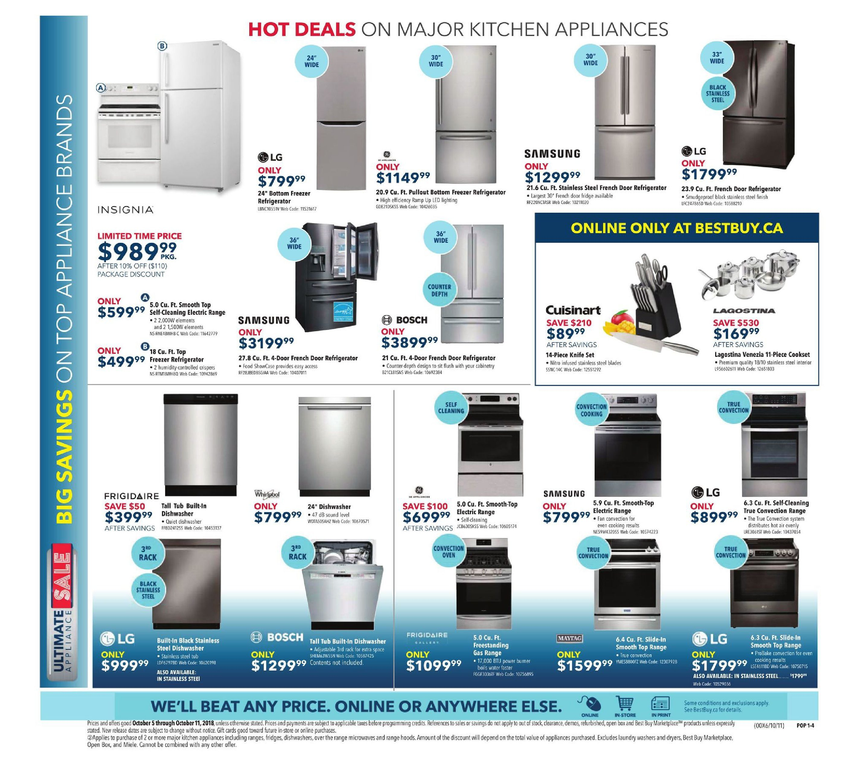 Best Buy Weekly Flyer - Weekly - Yellow Tag Sale - Oct 5 – 11