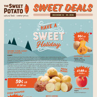 The Sweet Potato - Sweet Deals - Have A Sweet Holiday Flyer