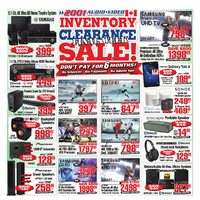 2001 Audio Video - Final Week - Inventory Clearance Sale! Flyer