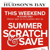 The Bay - Weekly - Summer Scratch & Save Event Flyer