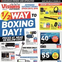 Visions Electronics - Weekly - 1/2 Way to Boxing Day! Flyer