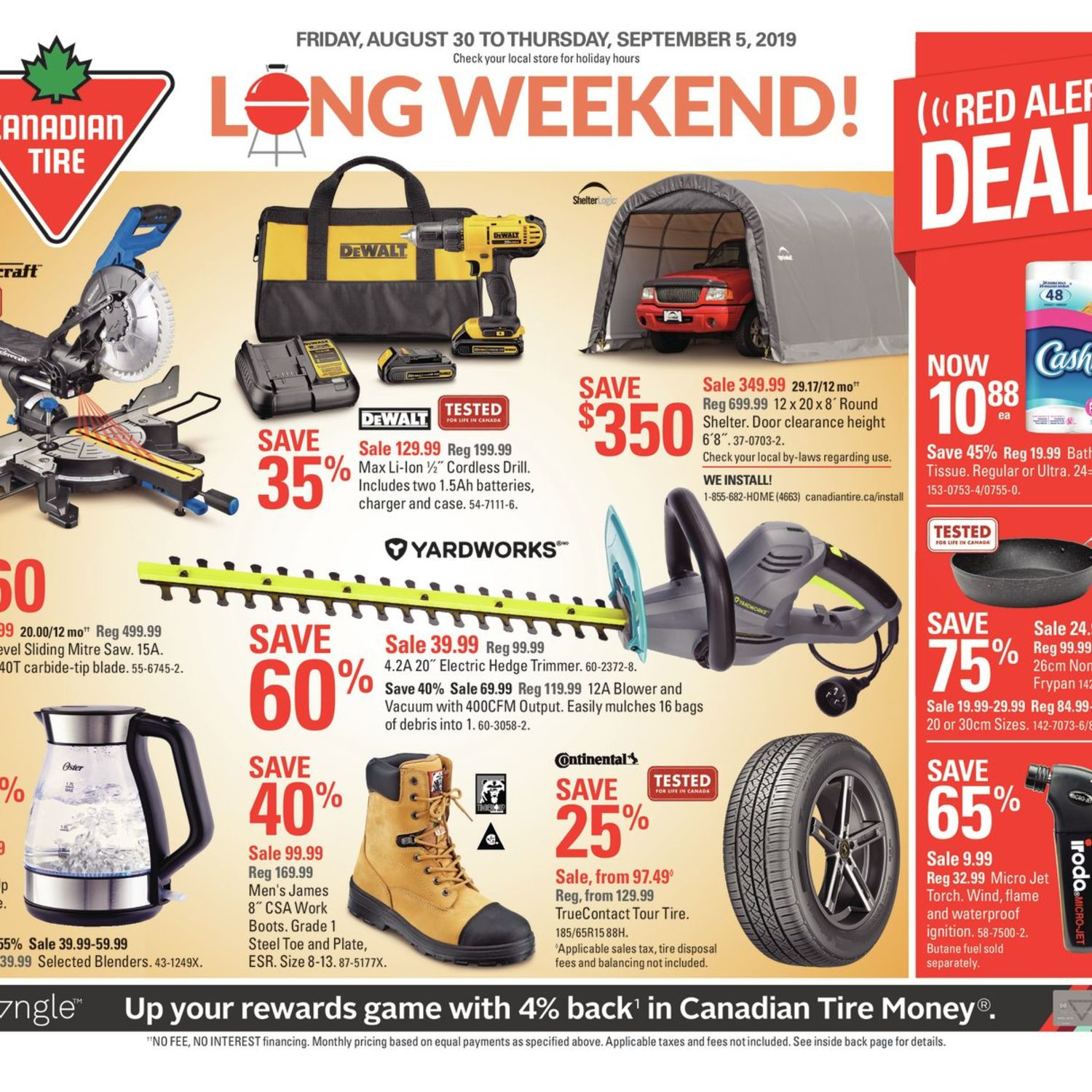 Canadian Tire Weekly Flyer Weekly Long Weekend Aug 30 Sep 5 Redflagdeals Com