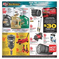 PartSource - Your Tire Change & Oil Change Source! Flyer