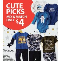 George Baby Boys Mix and Match Tops or Bottoms