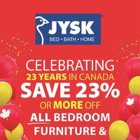 JYSK - Weekly - Celebrating 23 Years In Canada Flyer