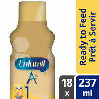 Enfamil A +,  Enfamil A + 2 or Gentlease A + Ready To Feed