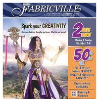 Fabricville - Spark Your Creativity Flyer