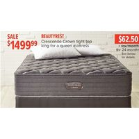 Beautyrest Crescendo Crown Tight Top King For A Queen Mattress