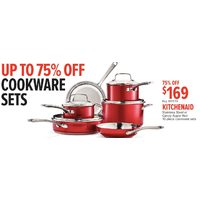 Kitchenaid Stainless Steel Or Candy Apple Red 10-Piece Cookware Sets
