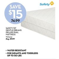 Safety 1st Gentle Dreams Deluxe Dual Mattress
