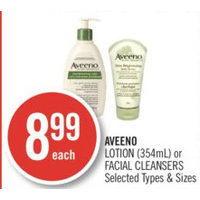 Aveeno Lotion Or Facial Cleansers