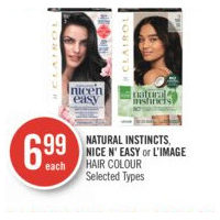 Natural Instincts, Nice N' Easy Or L'Image Hair Colour