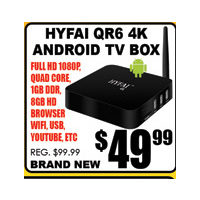Hyfal QR6 4K Android TV Box