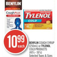 Benylin Cough Syrup Or Tylenol Cold Products