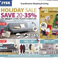 JYSK - Weekly - Holiday Sale Flyer