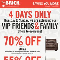 The Brick - Saving You More - February Friendzy Flyer