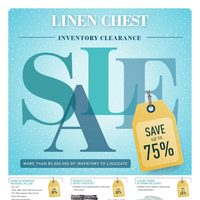 Linen Chest - Inventory Clearance Sale Flyer