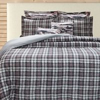 Argent to Plaid Duvet Cover Set