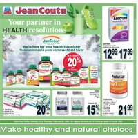 Jean Coutu - Make Healthy & Natural Choices Flyer