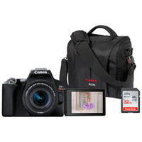 Canon EOS SL3 DSLR 18-55mm Camera, Bag, and 32 GB Card Bundle