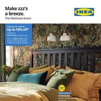 IKEA - The Mattress Event - Make Zzz's A Breeze Flyer