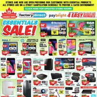 Factory Direct - Essentials Sale! Flyer