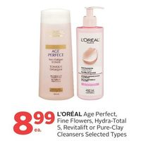 L'oreal Age Perfect, Fine Flowers, Hydra-Total 5, Revitalift Or Pure-Clay Cleansers