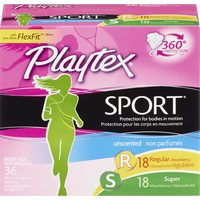 Schick Disposable Razors Or Stayfree Pads, 28-36's Carefree Liners, O.B. Or Playtex Tampons
