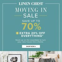 Linen Chest - Moving In Sale Flyer