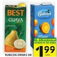 Rubicon Drinks or Best Nectars