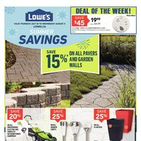 Lowe's - Weekly Specials Flyer