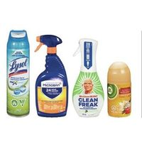 Lysol Sprays or Cleaners, Microban Sprays or Cleaners, Mr. Clean Clean Freak, Air Wick Air Fresheners or V.I.Poo Toilet Spray
