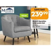 Monarch Specialties Velvet Accent Chair