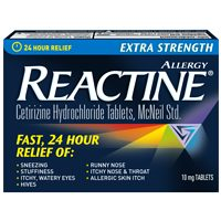 Reactine Allergy Benadryl or Imodium